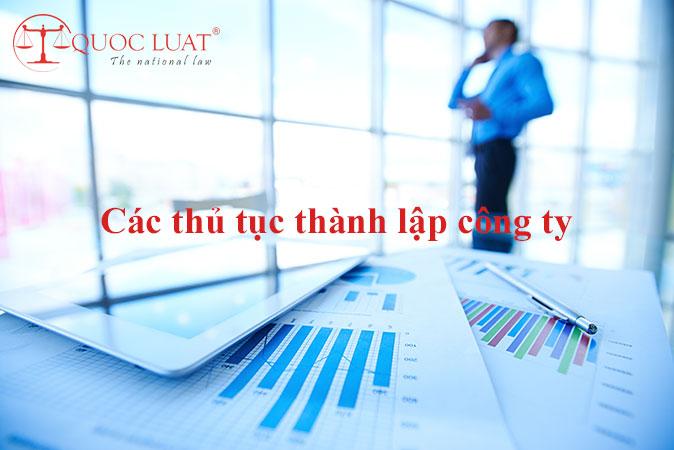 Các thủ tục thành lập công ty ở TPHCM