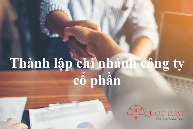 Thành lập chi nhánh công ty cổ phần ở TPHCM