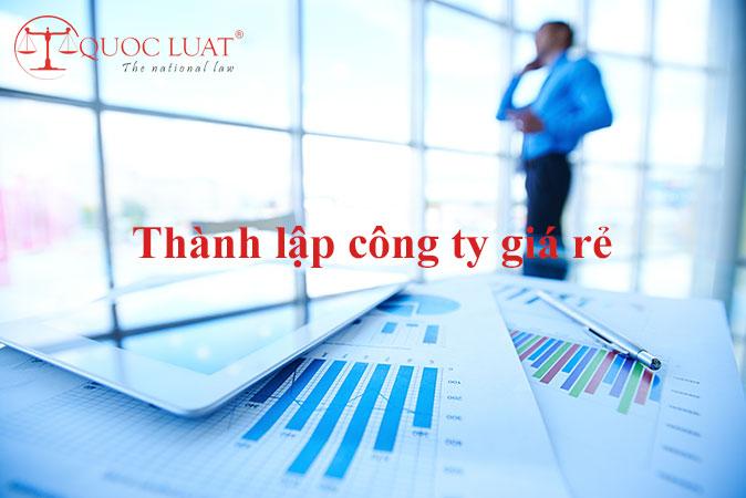 Dịch vụ thành lập công ty giá rẻ ở TPHCM